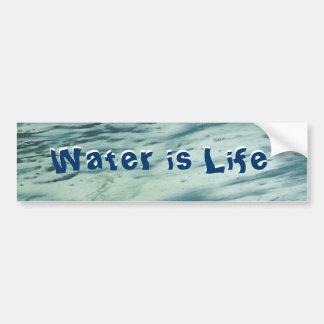 El agua es pegatina para el parachoques de la vida pegatina para auto