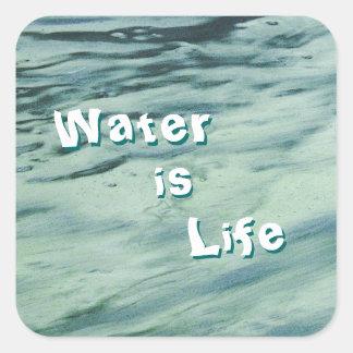 El agua es pegatinas de la vida