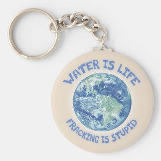 El agua es vida llavero redondo tipo pin