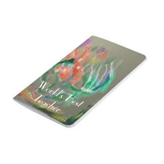 El agua florece el diseño abstracto - texto cuadernos grapados