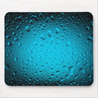 El agua fresca cae el cojín de ratón azul tapetes de ratones