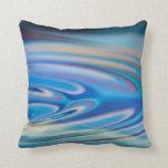 El agua ondula multicolor abstracto de la turquesa almohada
