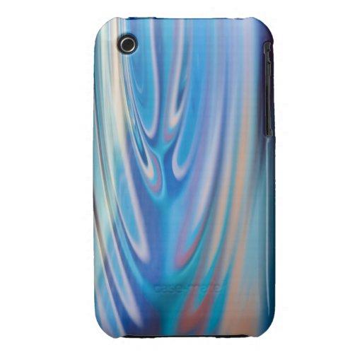 El agua ondula multicolor abstracto de la turquesa iPhone 3 carcasa