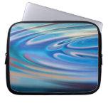 El agua ondula multicolor abstracto de la turquesa fundas portátiles