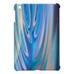 El agua ondula multicolor abstracto de la turquesa iPad mini funda