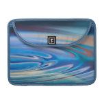 El agua ondula multicolor abstracto de la turquesa funda para macbook pro