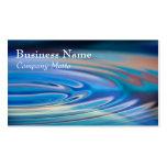 El agua ondula multicolor genérico de la turquesa plantilla de tarjeta de visita