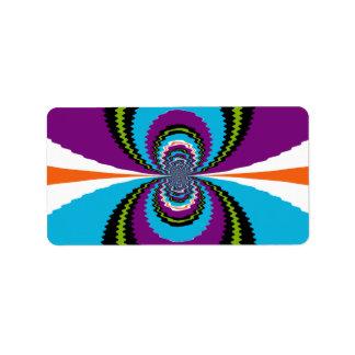 El agua púrpura enrrollada del trullo ondula el mo etiqueta de dirección