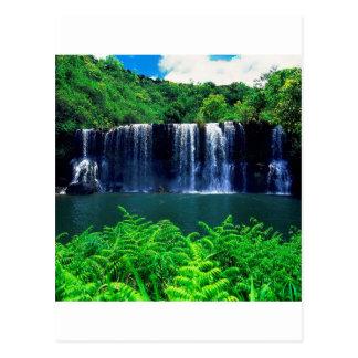 El agua recluida cae Kauai Tarjetas Postales