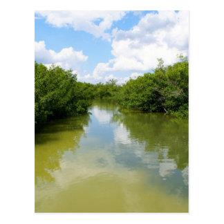 El agua resuelve el cielo postal