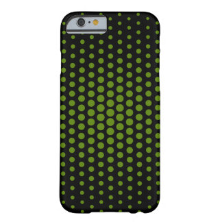 El aguacate Techno puntea negro moderno Funda Barely There iPhone 6