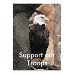 el águila americana, apoya a nuestras tropas invitación 12,7 x 17,8 cm