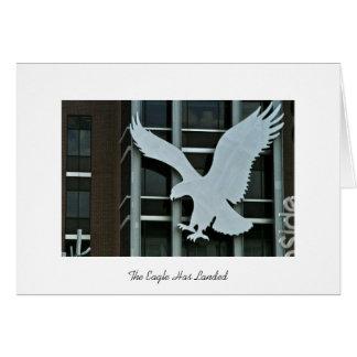 El águila ha aterrizado tarjeta de felicitación