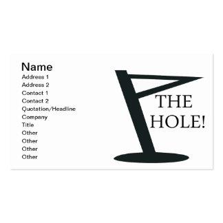 El agujero tarjetas de visita