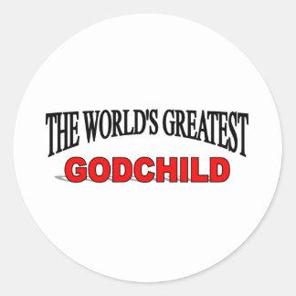 El ahijado más grande del mundo etiqueta redonda