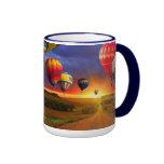 El AIRE CALIENTE colorido HINCHA la taza de la taz