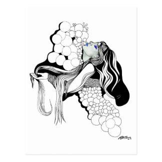 El Aire que respiro Bubbles Girl Postcard