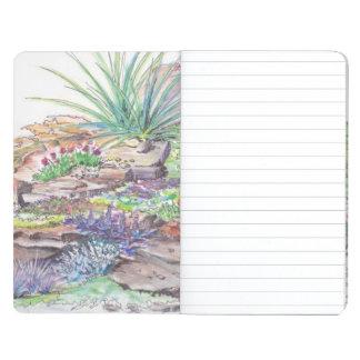 El ajardinar alpino del jardín cuadernos