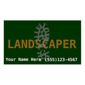 El ajardinar del paisajista promueve negocio tarjetas de visita