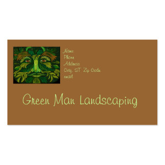 El ajardinar verde del hombre o tarjeta de visita