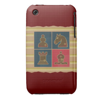 El ajedrez ajusta rojo Case-Mate iPhone 3 protectores