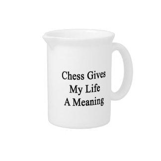 El ajedrez da a mi vida un significado jarras