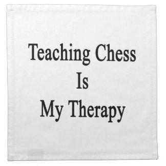 El ajedrez de enseñanza es mi terapia servilletas