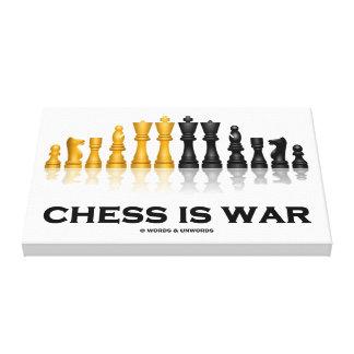 El ajedrez es guerra (el juego de ajedrez impresión en lona estirada