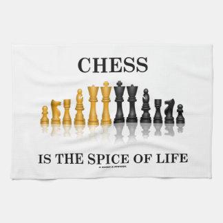 El ajedrez es la especia de la vida el juego de a toalla