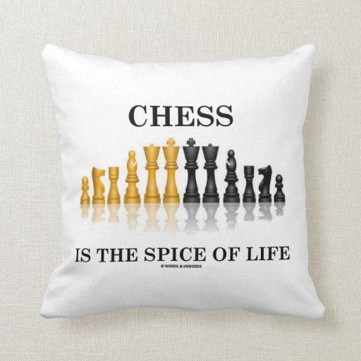 El ajedrez es la especia de la vida (el juego de almohada