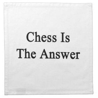 El ajedrez es la respuesta servilleta imprimida
