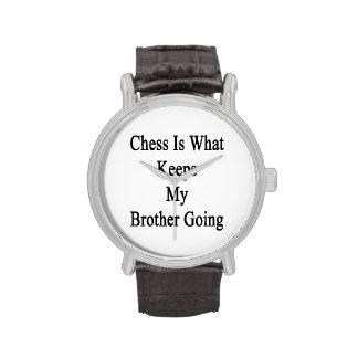 El ajedrez es qué guarda mi ir de Brother Reloj