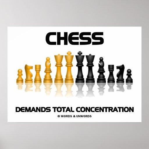 El ajedrez exige la concentración total (el juego  impresiones