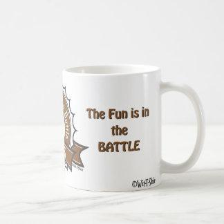 El ajedrez, la diversión está en la batalla, taza clásica