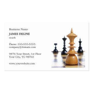 El ajedrez limpio clásico figura al coche tarjetas de visita