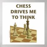 El ajedrez me conduce poster