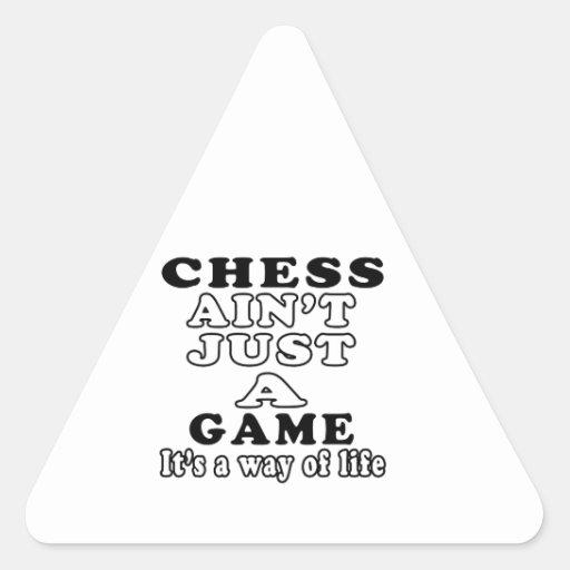 El ajedrez no es apenas un juego que es una manera calcomanía trianguloada