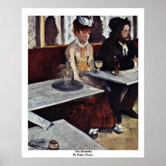 El ajenjo de Edgar Degas Póster