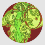 El ajenjo de Ofelia Etiquetas Redondas