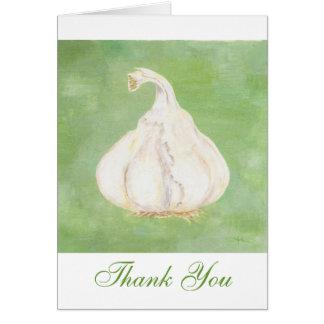 El ajo le agradece notecard tarjeta de felicitación