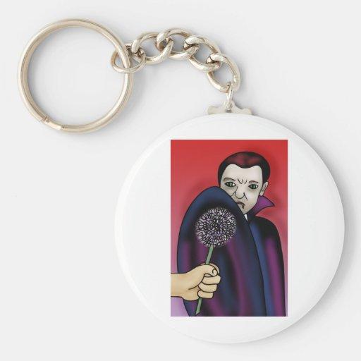 El ajo rechaza la mordedura del vampiro llavero personalizado