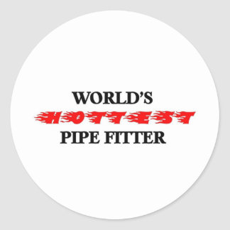 El ajustador del tubo más caliente del mundo pegatina redonda