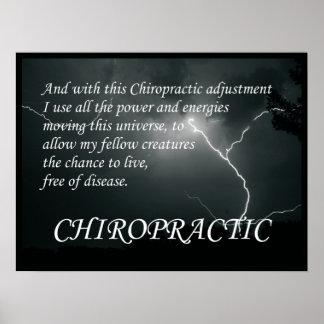 El ajuste de la quiropráctica cita refranes póster