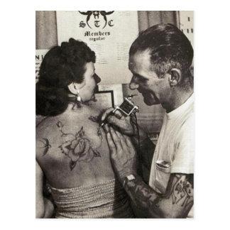 El Al Shieferly tatúa color de rosa Tarjeta Postal