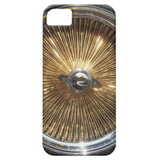 El alambre del oro del Lowrider rueda la cubierta iPhone 5 Carcasa