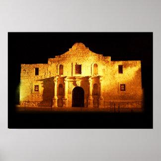 El Álamo, San Antonio, Tejas Póster