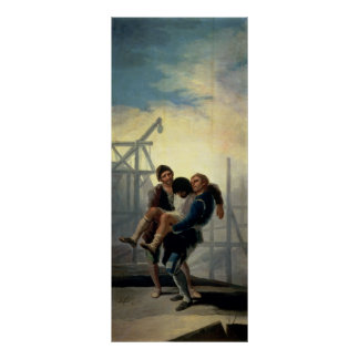 El albañil herido, 1786-7 póster