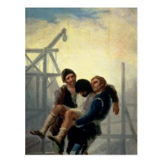 El albañil herido, 1786-7 tarjeta postal