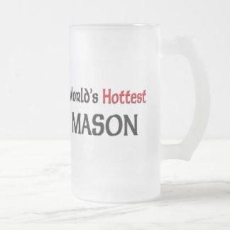 El albañil más caliente de los mundos jarra de cerveza esmerilada
