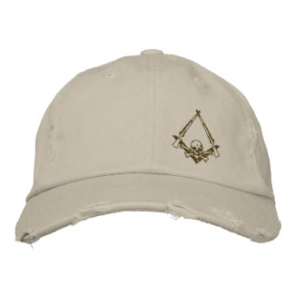 El albañil principal moderno bordó el gorra gorros bordados